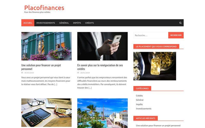 Placofinances, pour des finances plus solides