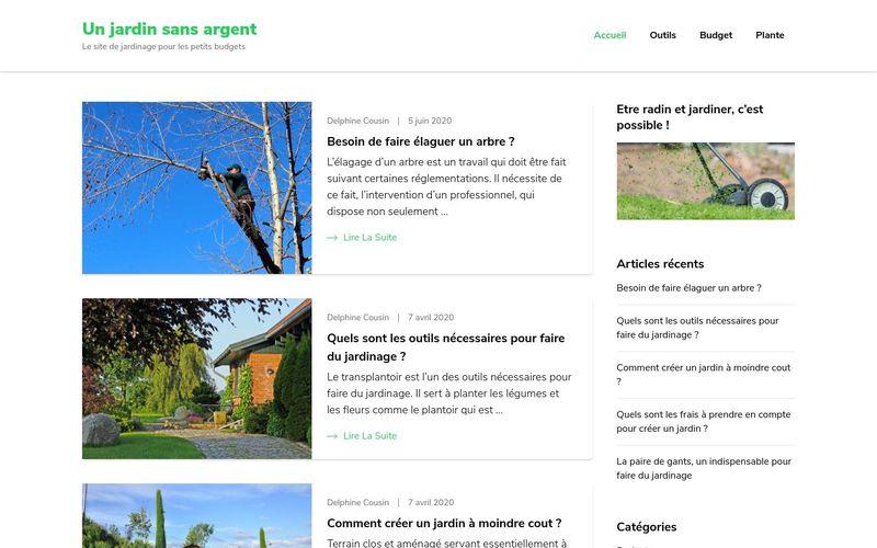 Un jardin sans argent - Le site de jardinage pour les petits budgets