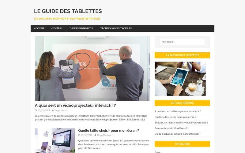 Le guide des tablettes - L'actualité du high-tech et des tablettes tactiles